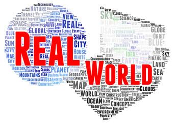 Real world word cloud shape