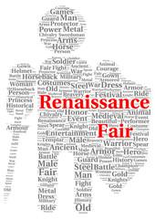 Renaissance fair word cloud shape
