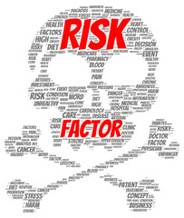 Risk factor word cloud shape