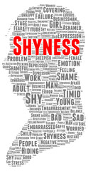 Shyness word cloud shape