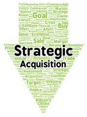 Strategic acquisition word cloud shape