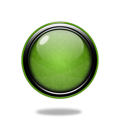 Green Circular button on white background