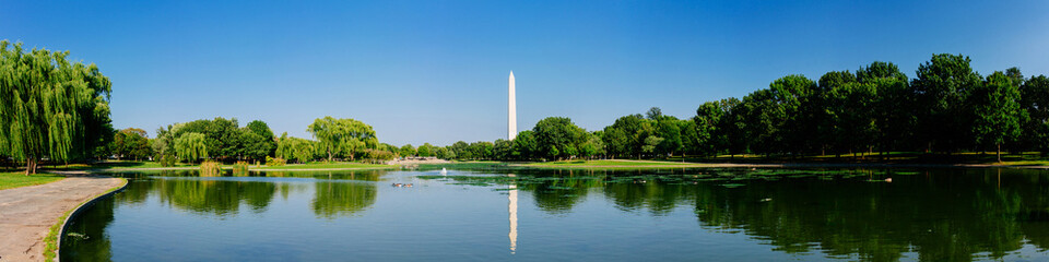 Panoramic view of the Washington monument.