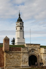 Clock tower,kalemegdan fortress in Belgrade,Serbia