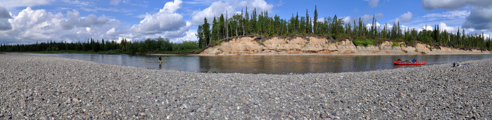 Panoramic view of the river.