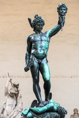 Perseus with the head of Medusa by Benvenuto Cellini in Florence