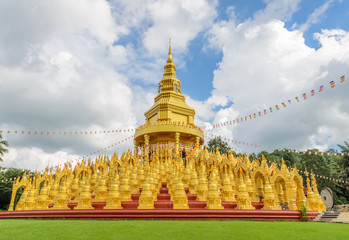 Five hundred golden pagodas in Saraburi, Thailand