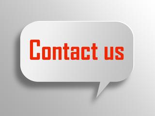 Contact us  3d  speech bubble