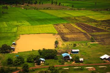 Rainy season view of farm from high point. Doi Suthep 2, Khao Sa