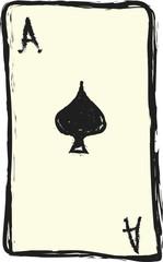 doodle ace of spades