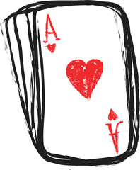 doodle ace of hearts
