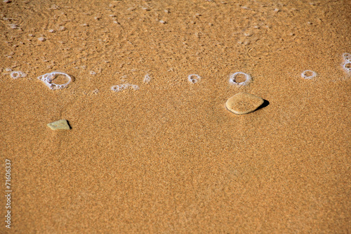 canvas print picture kieselstein am strand