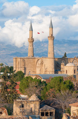 Selimiye mosque (St. Sophia Cathedral). Nicosia, Cyprus