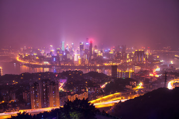 Yuzhong Peninsula night view
