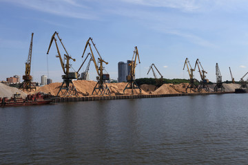 Landscape of cargo port