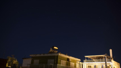 Timelapse of starry sky