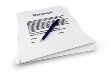 Statement document