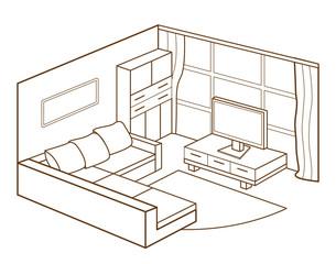 modern living room interior (vector illustration)