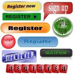 "10 different ""Register"" ; buttons"