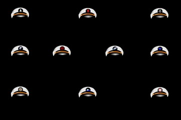 boating captains hats with emblems