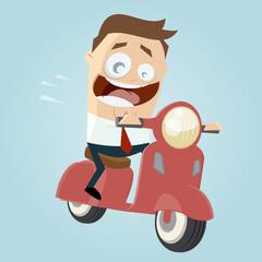 roller motorroller fahren