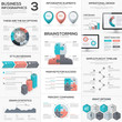 Puzzle piece infographics vector business jigsaw metaphors set