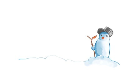Snowman with a trunk