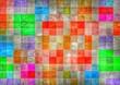 canvas print picture - farbiger Mosaic Hintergrund