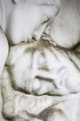historic sculpture of maria kissing the dead jesus. Unknown arti