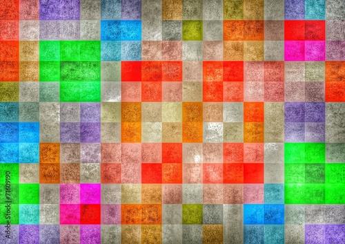 canvas print picture farbiger Mosaic Hintergrund