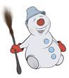 Christmas Snowball. Cartoon