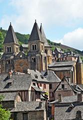 Il villaggio di Conques, Aveyron - Francia