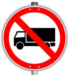 LKW verboten Schild  #141015-svg03
