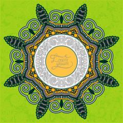 round ornamental frame, circle floral background, mandala