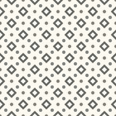 Abstract geometric dot seamless pattern. Vector illustration