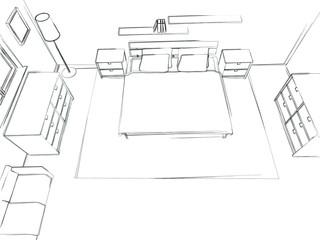 Skizze Schlafzimmer