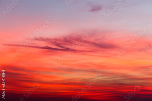 sunset sky - 71611343