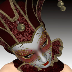 Venitian mask for elegante woman.