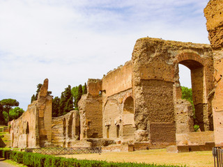 Retro look Augustus Mausoleum in Rome