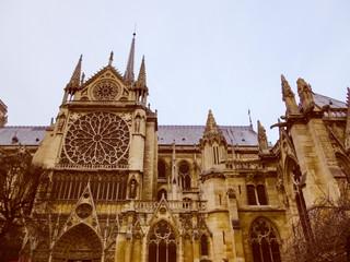 Retro look Notre Dame Paris