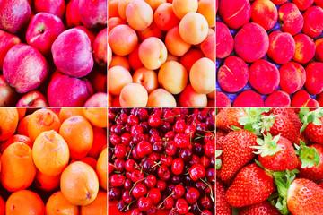 Retro look Fruit collage