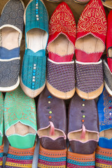 Shoes on the moroccan market