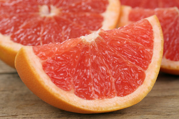 Geschnittene Grapefruit Früchte