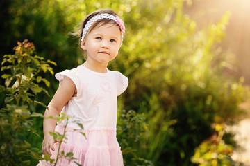Beautiful Toddler In Garden