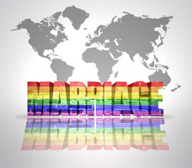 Word Marriage with Rainbow Gay Flag