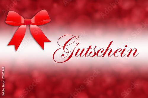canvas print picture Weihnachten - Gutschein