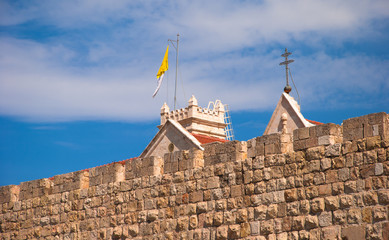 Wall of the Old City of Jerusalem