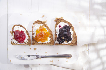 Breakfast bread and jam