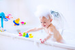Little baby in bath