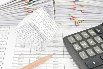 House with calculator and pencil place on finance account